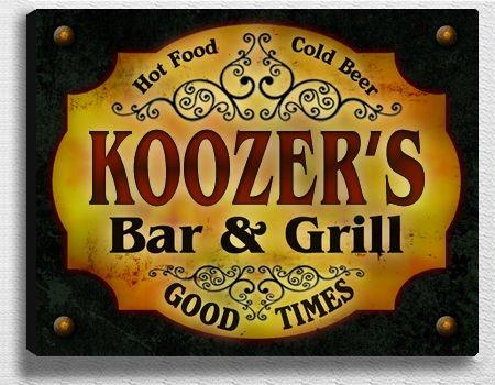 Koozer Bar & Grill Stretched Canvas Print