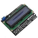 QOJA keypad shield blue backlight for arduino robot lcd 1602 board