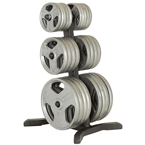 - Fitness Reality Olympic Weight Tree/Plate Rack/Bar Holders/Chrome Storage Posts, 1000 lb