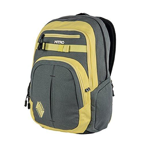 Nitro Chase Pack | großer trendiger Rucksack Tasche Backpack | Fassungsvermögen 35 L | Farbe: Gunmetal | mit gepolstertem Laptopfach und weiteren tollen Features