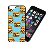 [TeleSkins] - Burger - iPhone 6 Plastic Case - Ultra Durable Slim & HARD PLASTIC Protective Slim Snap On Designer Back Case / Cover for Girls. [Fits iPhone 6 (4.7 inch)]
