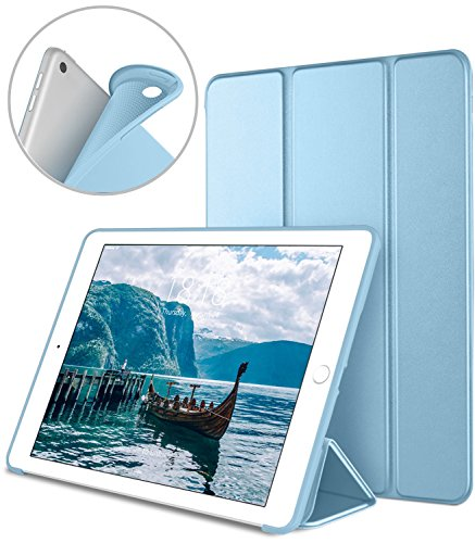 DTTO iPad 9.7 Case 2018 iPad 6th Generation Case / 2017 iPad 5th Generation Case, Slim Fit Lightweight Smart Cover with Soft TPU Back Case for iPad 9.7 2018/2017 [Auto Sleep/Wake] - Sky Blue