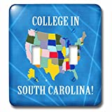 Beverly Turner College in - United States Map, College in South Carolina, Heart, Car, Luggage - Light Switch Covers - double toggle switch (lsp_233539_2)