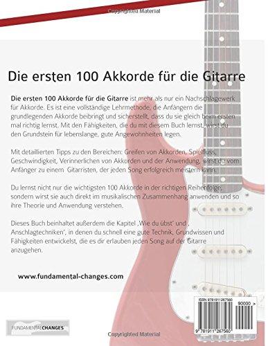 Die Ersten 100 Akkorde Für Die Gitarre Gitarrenakkorde üben