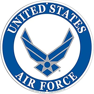 Eqltl Ac Amazon Com Usaf Air Force Logo Aluminum Sign United States Large Home Kitchen