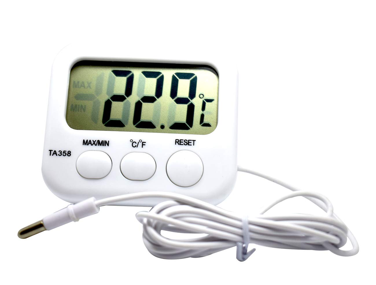 Bytiyar TA358 Celsius/Fahrenheit Digital Thermometer Temperature Meter Gauge with 4.9ft/1.5M Probe Sensor