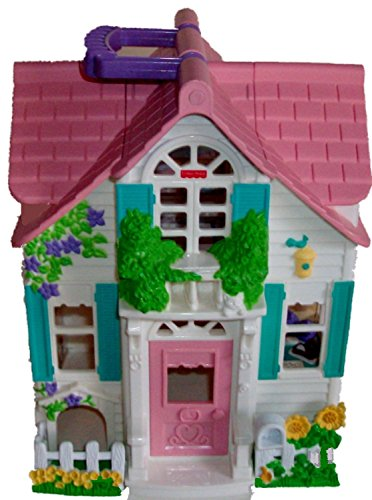 Fisher Price Sweet Streets 2 Story Playhouse Cottage White Sides (Story Two Cottage)