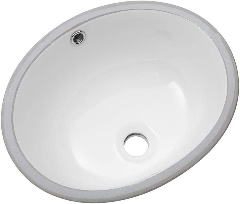 Bathroom Sink Undermount Sarlai 16 Inch Undermount Oval Sink Pure White Porcelain Ceramic Lavatory Vanity Vessel Sink Basin Amazon Com