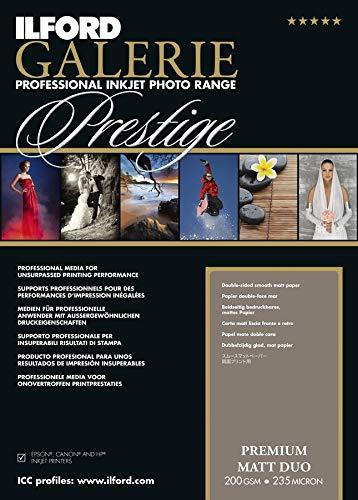 /297/mm x 420/mm 25/Hojas Ilford Galerie Prestige Premium Mate Duo 200/gsm A3/