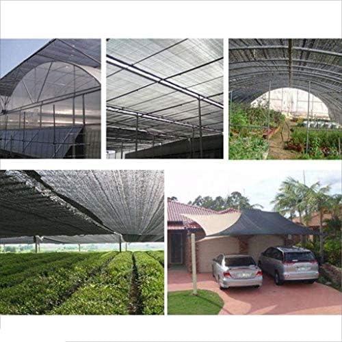 Vela de sombra toldo vela Para jardin patio Protector Solar Negro Tela de Sombra Invernadero Red de Sombra Resistente Los Rayos UV Tasa de Sombreado 80% para Jardines Aire Libre Planta Flores