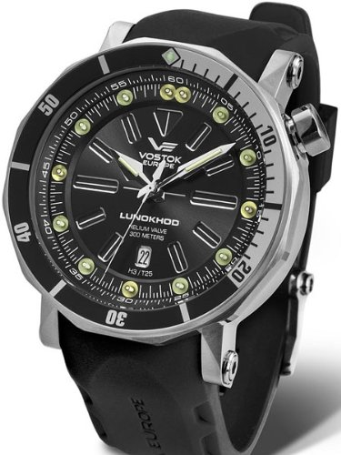 Vostok-Europe N1 Lunokhod-2 Automatic 300 Meter Dive Watch with Tritium Tubes 6205210