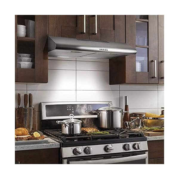 Cosmo 5MU30 30 in. Under Cabinet Range Hood with Ducted / Ductless Convertible Duct, Slim Kitchen Stove Vent with, 3… 2