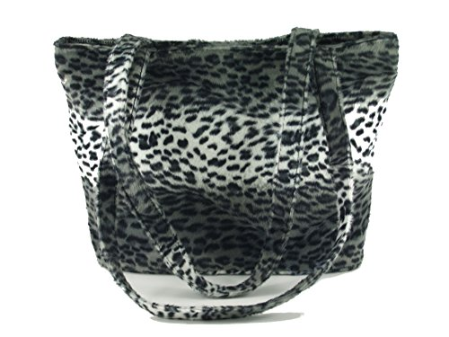 - Loni Womens Smart Animal Print Faux Fur Tote/Shoulder Bag in cheetah