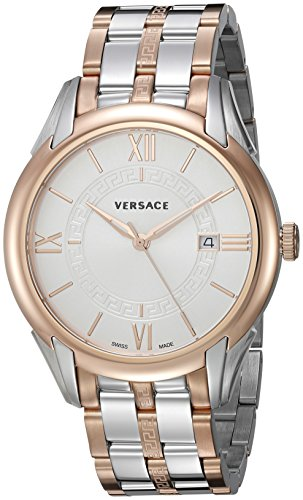 Versace Men's 'APOLLO' Swiss Quartz Stainless Steel Casual Watch, Color:Two Tone (Model: V10080015)