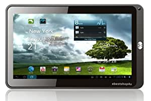 """Kocaso MID_M1060 Google 10.1"""" 4GB 1080P Tablet PC . Android 4.0 OS (Ice Cream Sandwich), 1GB DDR3 RAM, 3D accelerator, 5 Point Multi Touch Capacity wifi, Boxchip A10 Cortex A8 1.2GHz, Front 0.3MP Camera, support Skype MSN Google+, etc (White back)"""