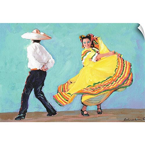 CANVAS ON DEMAND RD Riccoboni Wall Peel Wall Art Print Entitled Fiesta De Reyes Dancers 18