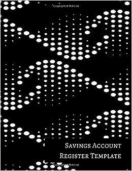 savings account register template
