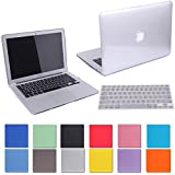 HDE Plastic Hard Shell Case and Keyboard Cover for MacBook Air 11 Inch (Models: A1370/A1465), Crystal Clear