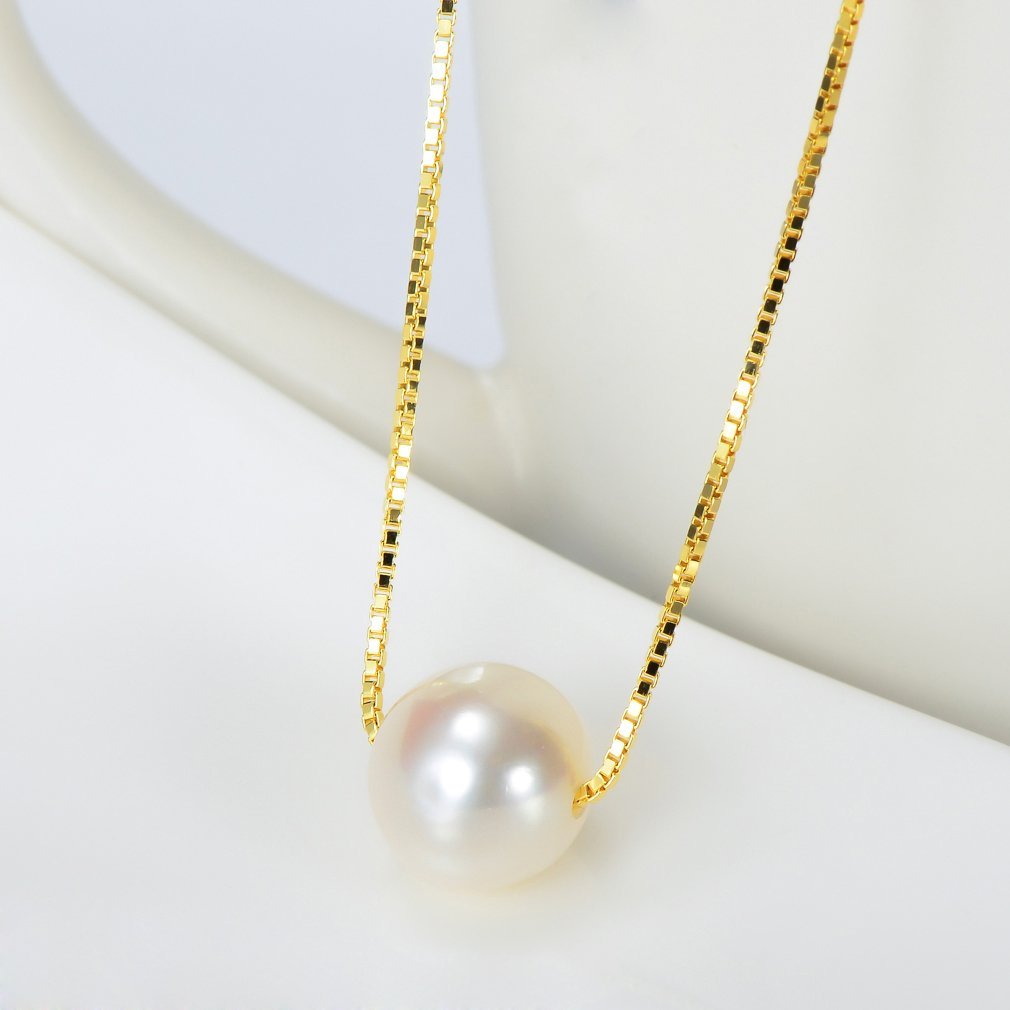 Sterling Silver Necklace with Freshwater Cultured Pearl Pendant