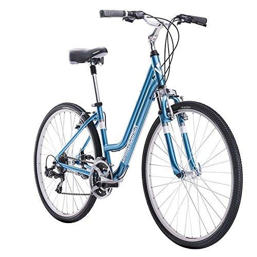 Diamondback Maravista Women's Hybrid Bikem, Medium Double Riser Grip Stand