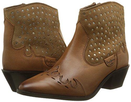 Marrone Stivali braun Jeans Dina Brown877 Arricciati nut Donna Pepe Studs 0SqAxwxY