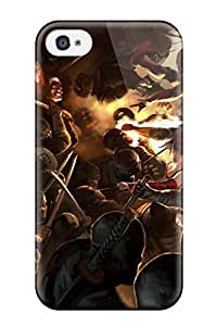 Iphone 4/4s Daredevil Print High Quality Tpu Gel Frame Case Cover