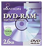 Imation 2.6 GB DVD-RAM Single Sided Rewritable (74040188778)