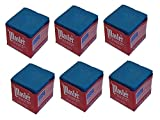 Master Half Dozen Blue Pool Cue Chalk