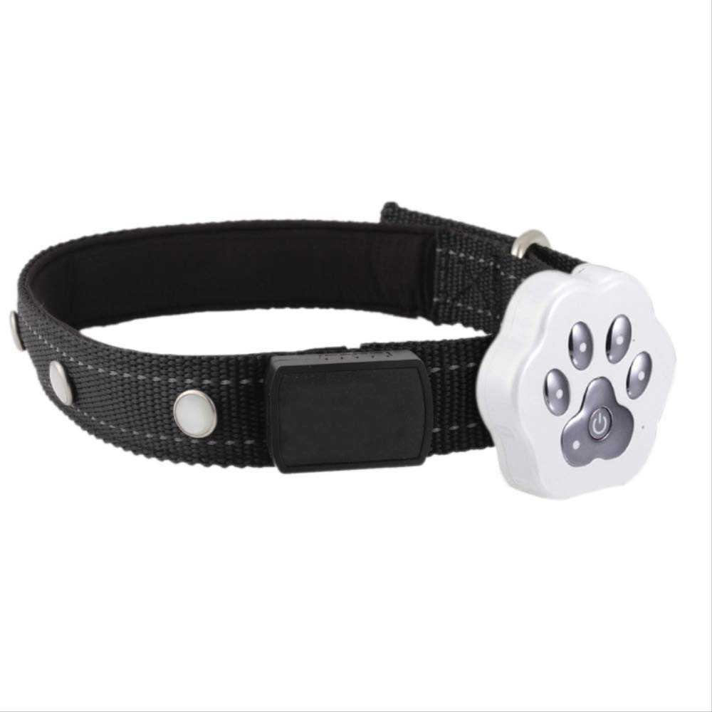 Realtime Tracking Pet GPS Tracker Waterproof LED Smart Locator Dog Cat Anti-Lost White