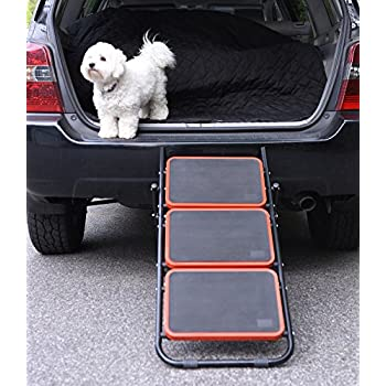 Amazon Com Convertible Dog Stairs Pet Ramp For Cars