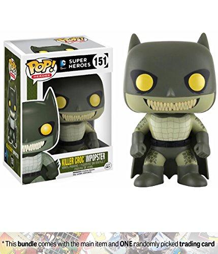 Walmart Batgirl Costume (Killer Croc Impopster (Walmart Exclusive): Funko POP! Heroes x Batman Vinyl Figure + 1 Official DC Trading Card Bundle (11994))