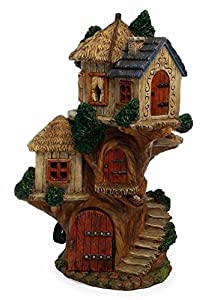 Extra large fairy garden fairy tree house with opening for Amazon uk fairy doors
