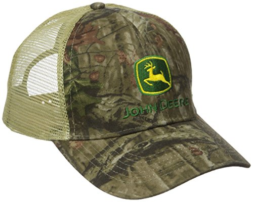Logo Embroidered Baseball Cap - John Deere Embroidered Logo Mesh Baseball Hat - One-Size - Men's - Mossy Oak