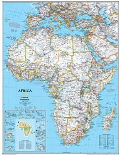 Africa Map (Available in Two Sizes!) Map Type: Basic Size ...