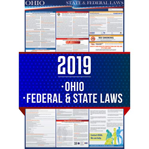 (2019 Ohio State and Federal Labor Laws Poster - OSHA Workplace Compliant 24