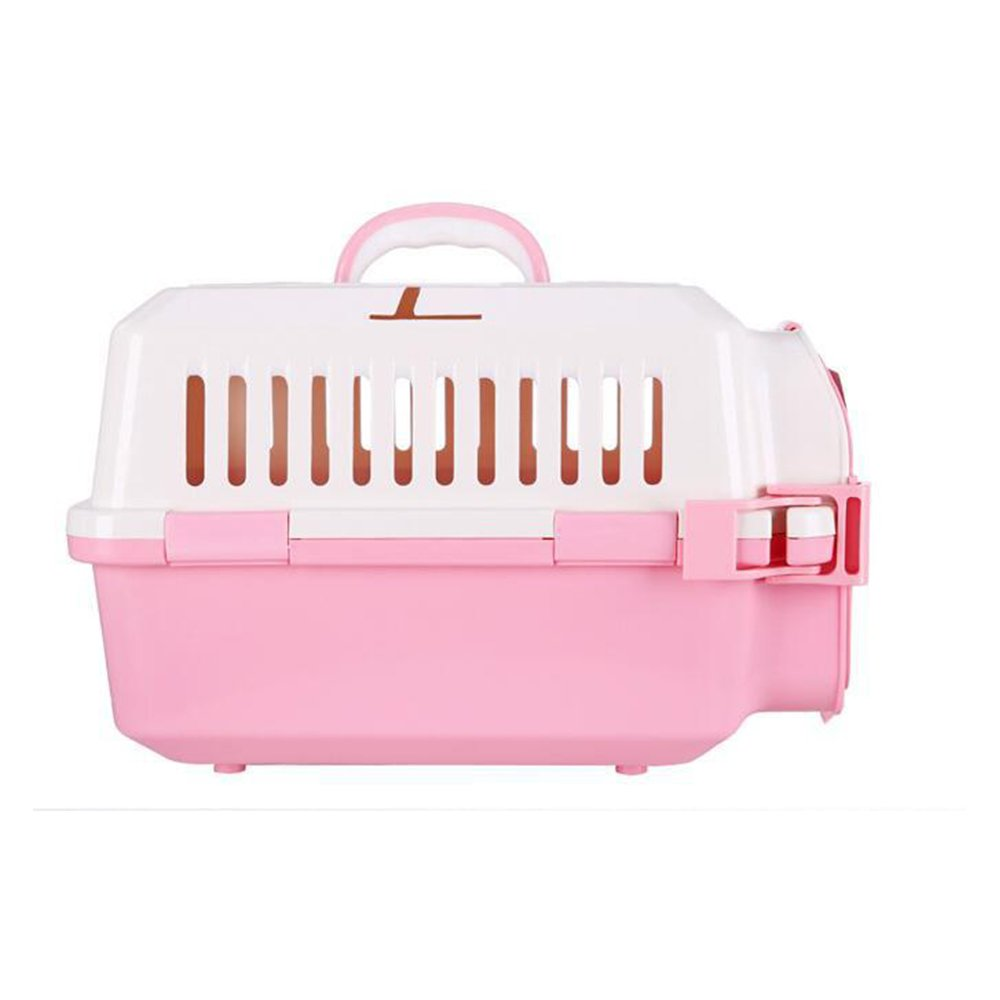 Aqi7 Dogs And Cats Portable Shipping Boxes, Small Dog Air Boxes, Cats And Dogs Suitcase Pet Supplies,Pink