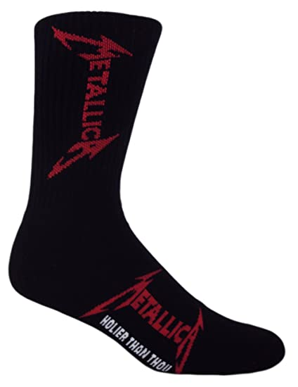 MOXY Socks Black, White, Red Metallica Holier Than Thou Crew Socks