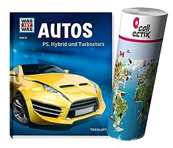 ¿Qué es lo que sachbuch Serie banda 053: coches - PS, Hybrid y turbo Stars + niños mapa del mundo Póster by collectix: Amazon.es: Juguetes y juegos