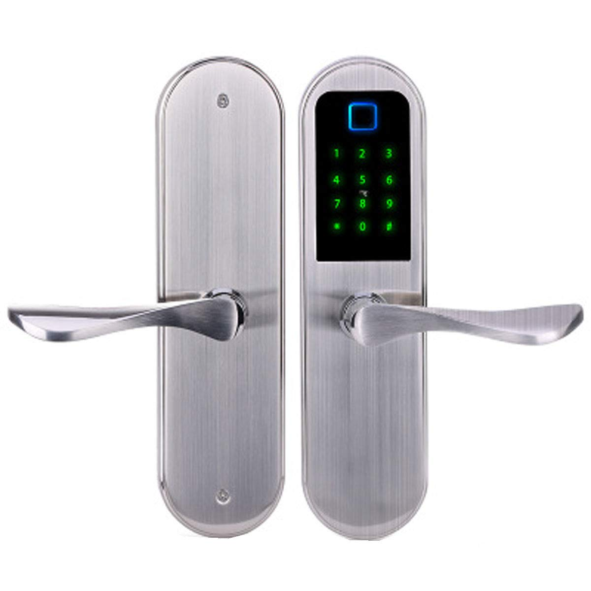 Love of Life Smart Door Locks for Homes Fingerprint Lock with Digital Password IC Card Unlock Function,Apartment Access Control System,Silver