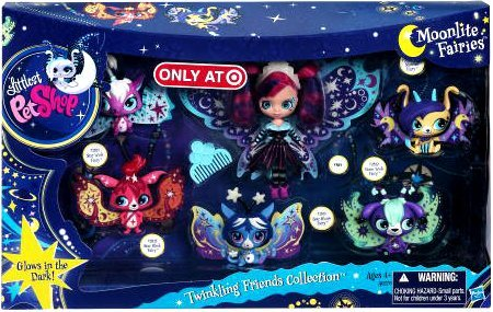Littlest Pet Shop Twinkling Friends Collection Blythe Moonlite Fairies
