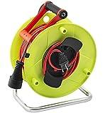 Brennenstuhl Enrouleur de câble jardin (50 m) Jardi-50, rallonge extérieure 50m avec 1 prolongateur 2P+T & 1 fiche 2P+T, vert & rouge, Quantité : 1