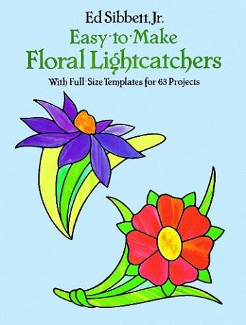 Small Floral Stained Glass Designs with 63 Full-Sized Templates