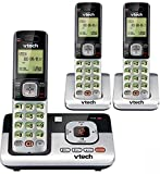 VTech CS6829-3 3-Handset Cordless Phone System with Caller ID/Call Waiting, DECT 6.0 Digital Technology, Digital Answering System, Caller ID/Call Qaiting-stores 50 Calls, Volume Control