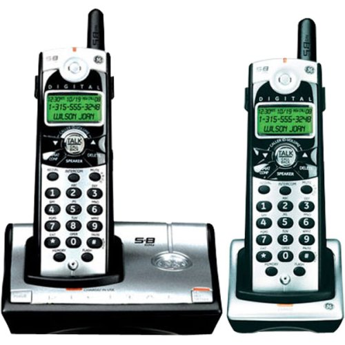 GE 28021EE2 Digital 5.8 GHz Cordless Phone with 2 Handsets and Call Waiting Caller ()
