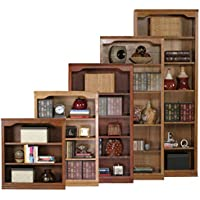 Eagle Classic Oak Open Bookcase, 72, Medium Oak Finish