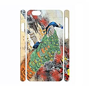 Customized Bird Series Peacock Pattern Personalized Hard Plastic Phone Accessories for iphone 5c Inch