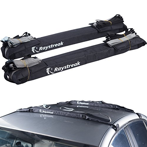 Raystreak 24' Stand Up Paddle Board Car Roof Rack Pad Set with Bag
