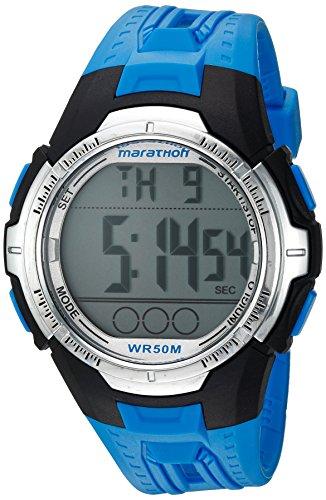 Marathon by Timex Men's TW5M06900 Digital Full-Size Blue/Black Resin Strap Watch