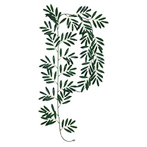 Fake Vines Artificial Ivy Leaf Plants Artificial Hanging Plants Silk Green Leaf Garlands Home Office Garden Outdoor Wall Decoration 7