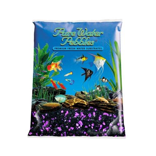 Pure Water Pebbles Nature's Ocean Aquarium Gravel BlackBerry Glo Gravel 5-lb ()